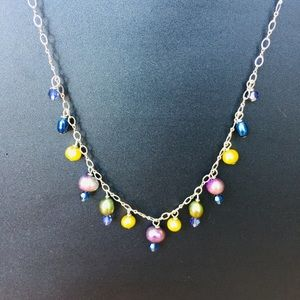 Freshwater Pearl and Crystal Delicate Necklace